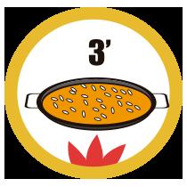 Rock Paella - Modo de empleo - Cocinar a fuego vivo durante 3 minutos