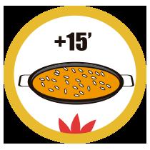 Rock Paella - Modo de empleo - Cocinar a fuego medio durante15 minutos más